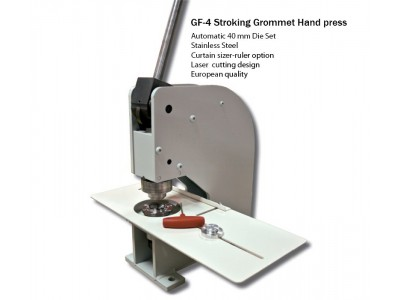 GF 4 Curtain Grommet Machine Set With Automatic Die Included (40 mm set)(3 Year Warranty)