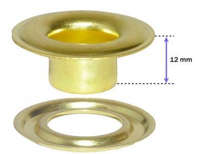 """SPGW #2XL (3/8"""") (Long Neck 12mm) Inside Hole :9,5mm Self-Piercing Grommets & Washers (500 sets)"""