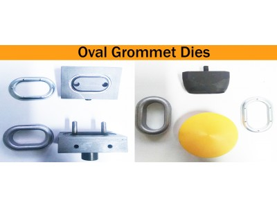 Oval Grommet Setting &  Cutting Dies For TIR  Oval 40 mm & 42 mm Grommets