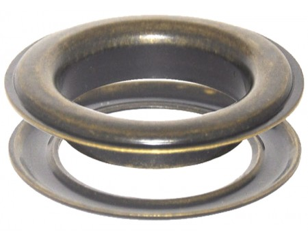 Round #12 (1 1/2\ inch ) METAL Grommets and Washers(Antique Brass Color)(ID 40 mm Ø)