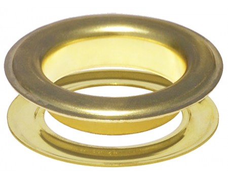 Round #12 (1 1/2\ inch ) METAL Grommets and Washers(Brass Color)(ID 40 mm Ø)