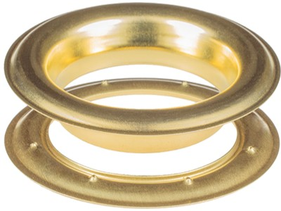 Round #12 (1 1/2\ inch ) METAL Grommets and Washers(Satin Brass Color)(ID 40 mm)