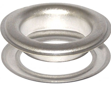 Round #12 (1 1/2\ inch ) METAL Grommets and Washers(Satin Nickel)(ID 40 mmØ)